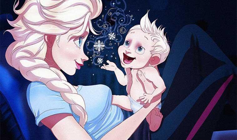 當迪士尼公主變新手媽,會發生什麼事呢?