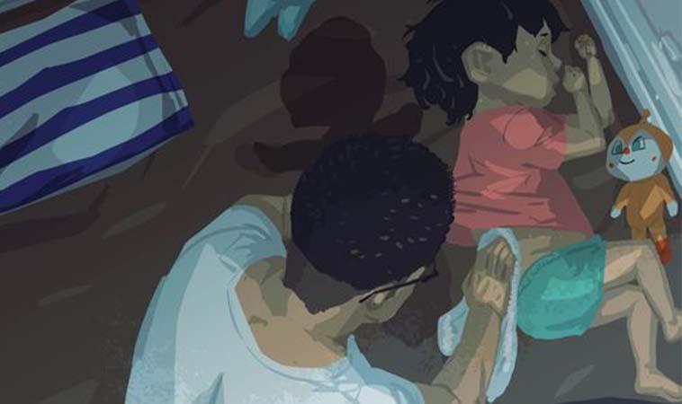 孩子睡著後,爸媽總是在忙著觀察寶貝有無睡好