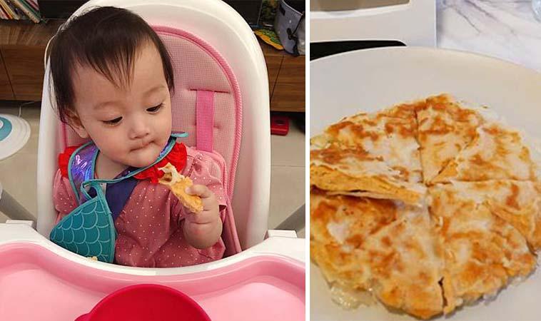 嬰兒版泰式料理,海鮮月亮蝦餅