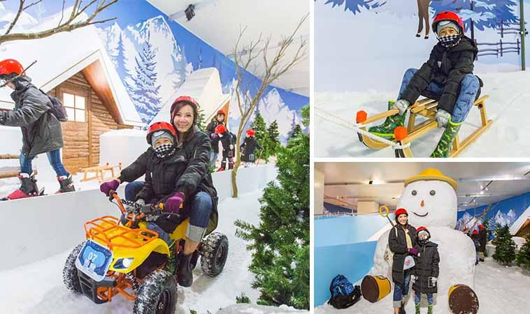 士林科教館雪展,夏天也能瘋狂玩雪