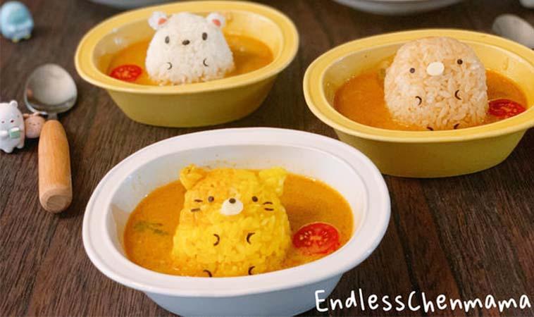 孩童最愛料理,角落小生物造型餐
