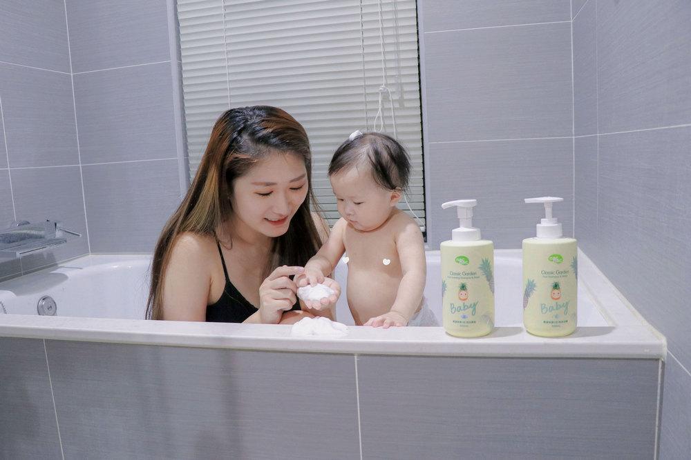 夏日洗沐     nac nac經典花園系列為寶寶帶來溫柔花香及果香呵護