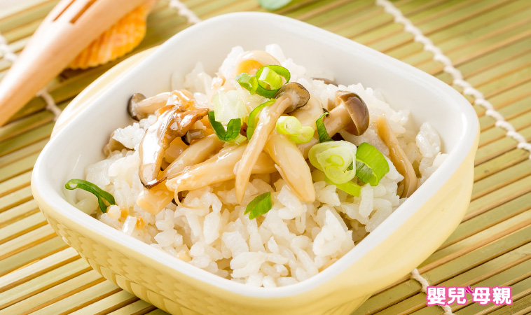 孕期私房菜,電鍋野菇炊飯