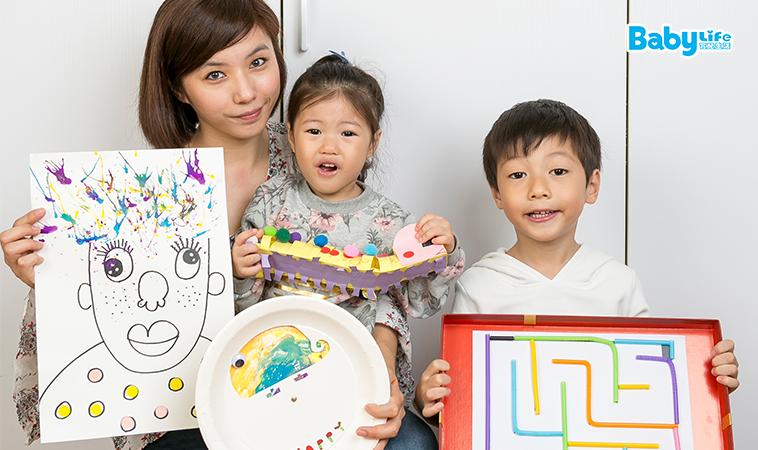 啟動D.I.Y.的創造力 吸管x紙盤x喜餅盒‧在家就能做的親子勞作!