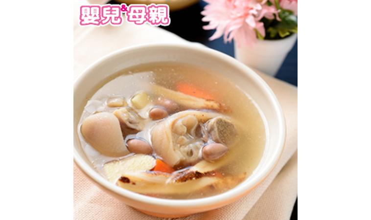 芥蘭炒牛肉、香菇花生豬腳燉湯