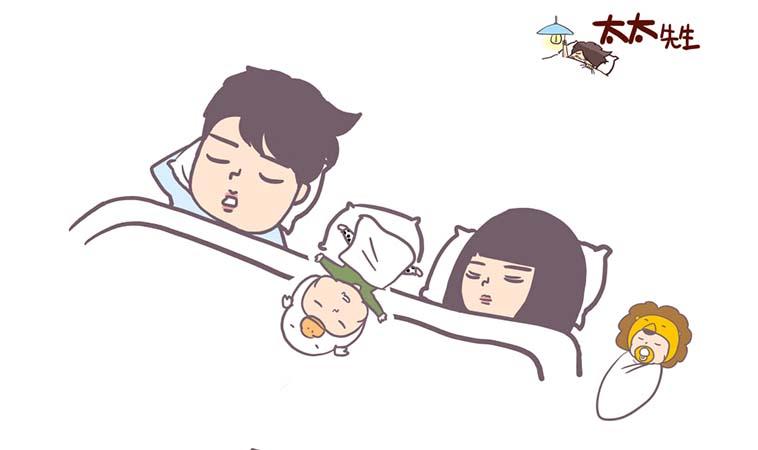 當孩子睡著時,就是父母吃宵夜放鬆的時刻