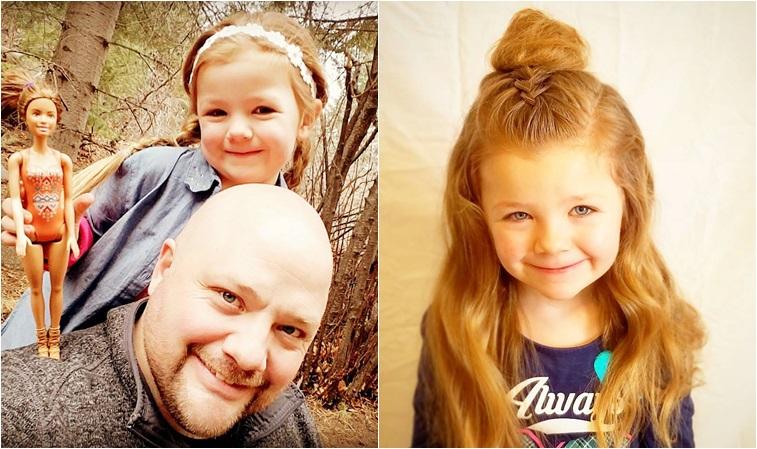 單親爸比為愛學綁髮,天天幫女兒換造型!