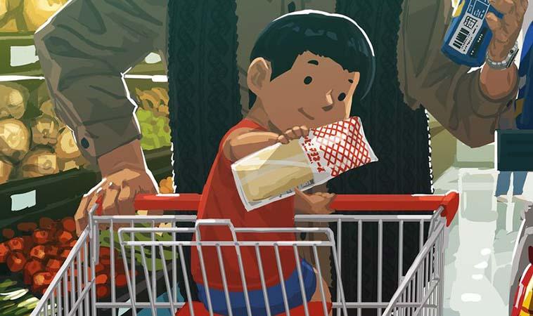 帶小孩購物,他常出意見就像守門員般