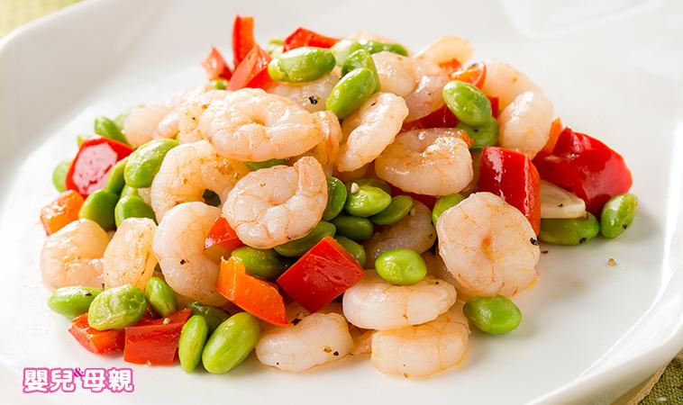 營養師把關輕鬆料理,產後這樣補:蒜香蝦仁毛豆