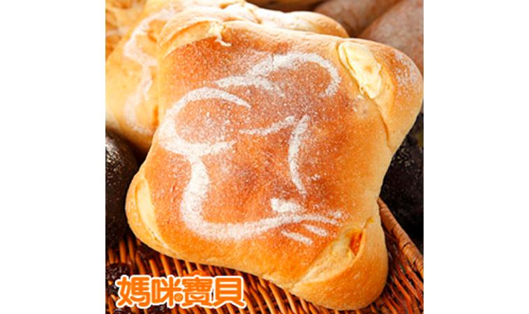 芒果乳酪歐式麵包,軟Q好美味!