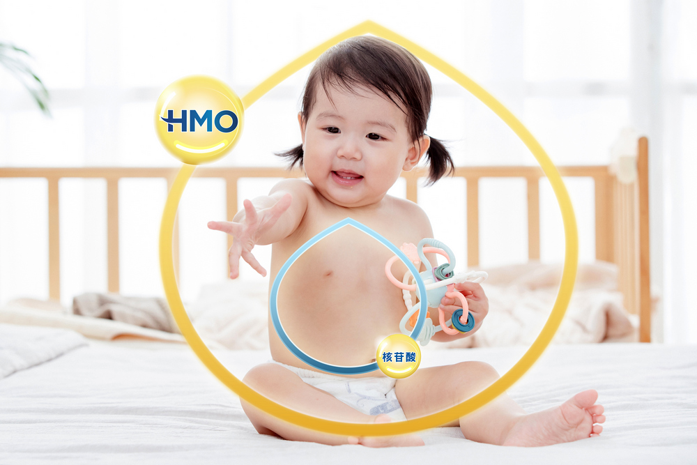 想要增強寶寶免疫力,醫師建議選擇含有HMO母乳寡醣與核苷酸的配方奶
