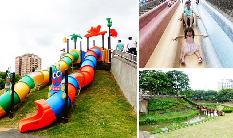 桃園陽明運動公園,大小孩都適合遊玩