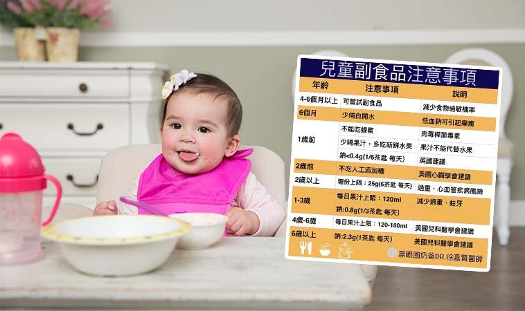 爸媽更新筆記囉!嬰幼兒副食品新觀念