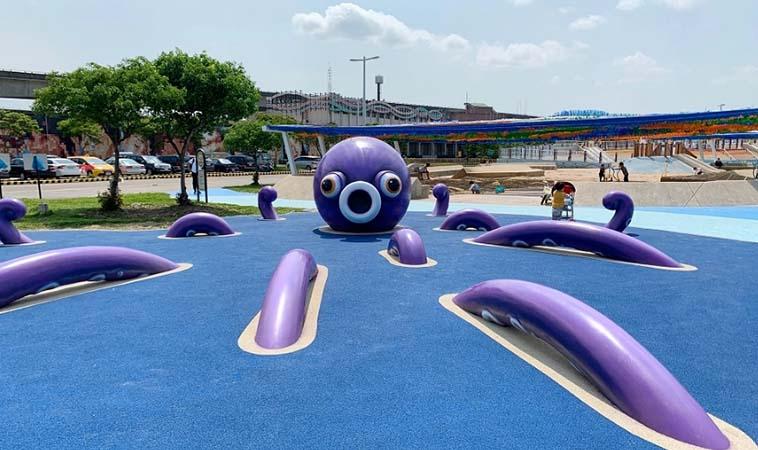 大佳河濱公園升級3.0,共融遊戲場大小孩都適合