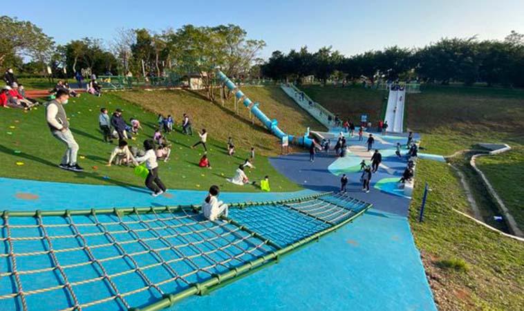 住家附近又有新公園,2020林口足夢運動公園開放了