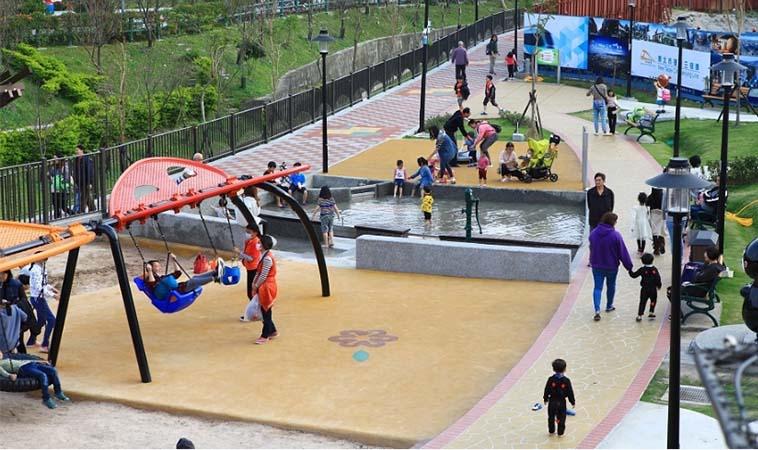 新北鶯歌永吉公園,超夯螺旋溜滑梯新景點