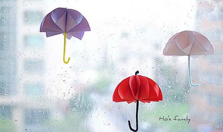 期待降雨手作,紙傘摺紙DIY