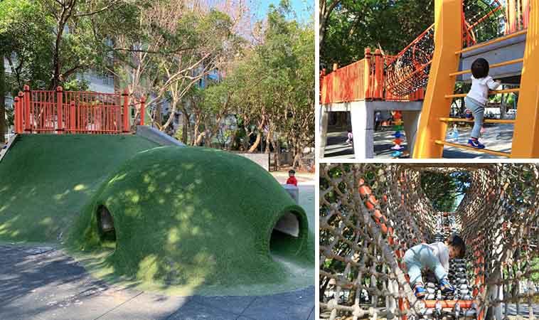 板橋四維公園巨龜溜滑梯,小小孩也適合