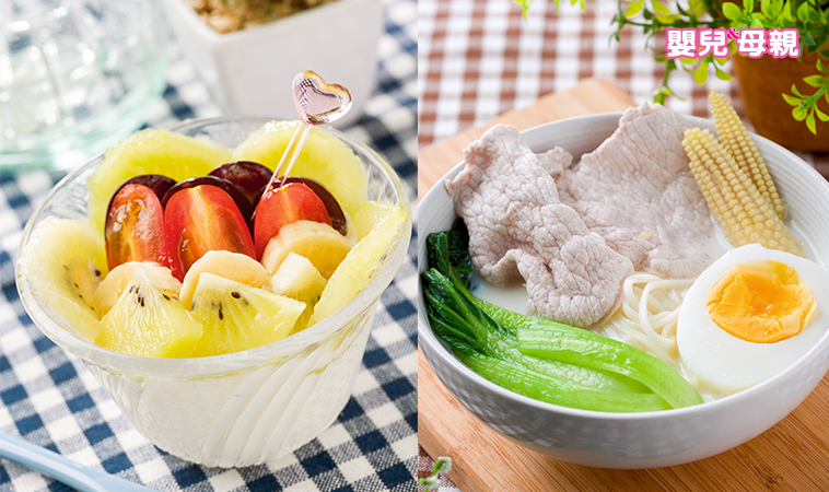 鲜果酸奶、豆浆煨面