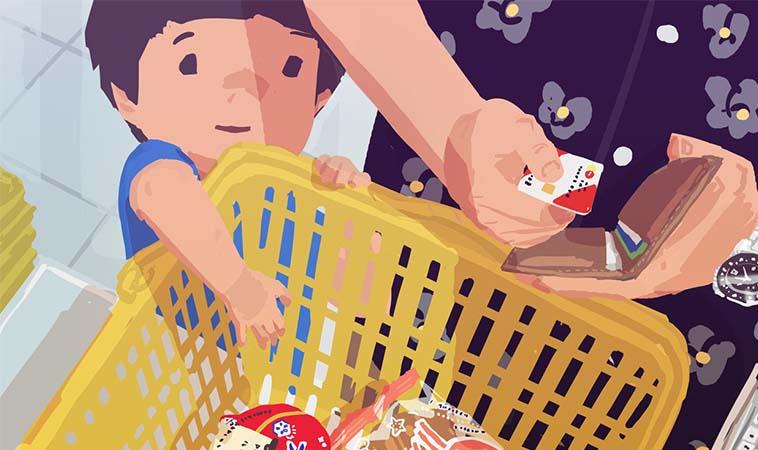 帶小孩購物,小孩常常想拿購物籃的物品