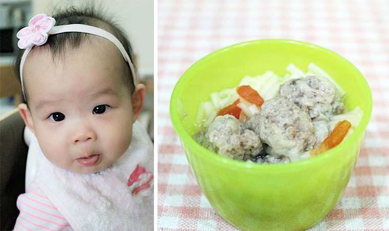 豬肉丸子鮮蔬麵,適合9個月以上寶寶