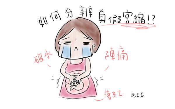 新手孕媽咪難以分辨的真、假宮縮!?