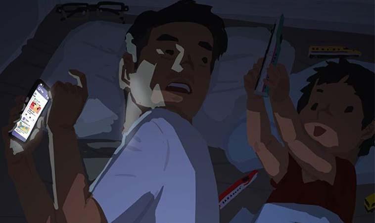 育兒日常,睡前划手機被抓包