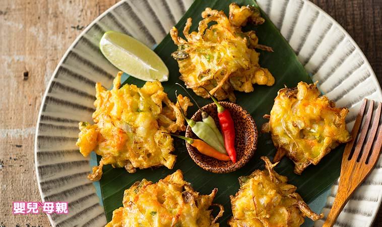 媽媽私房菜 南洋風味餐~薑黃鮮蝦蔬菜餅、印尼海鮮炒麵