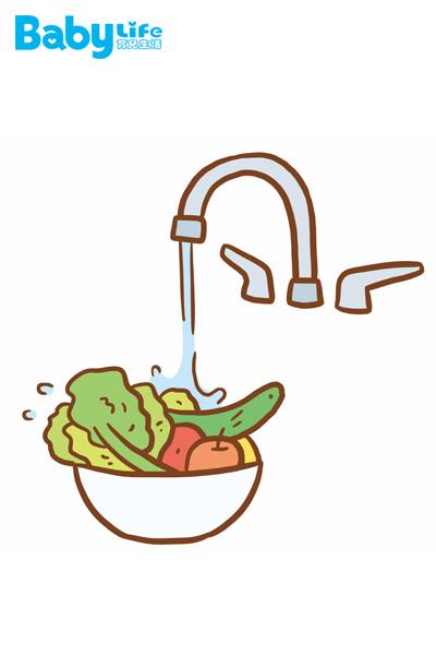 以流動狀態清潔蔬果農藥的效率高於直接將蔬果浸泡於水中