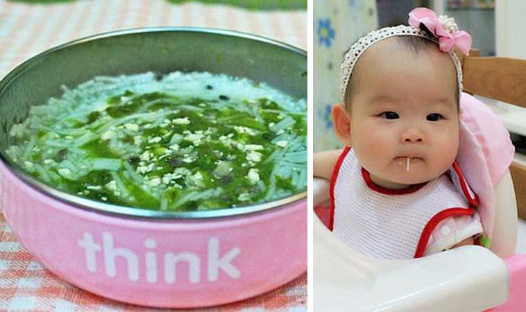 寶寶副食品料理,小白菜雞肉細麵