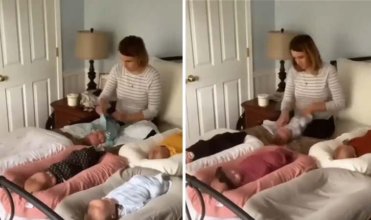 多寶媽超厲害,幫寶寶換衣自己來