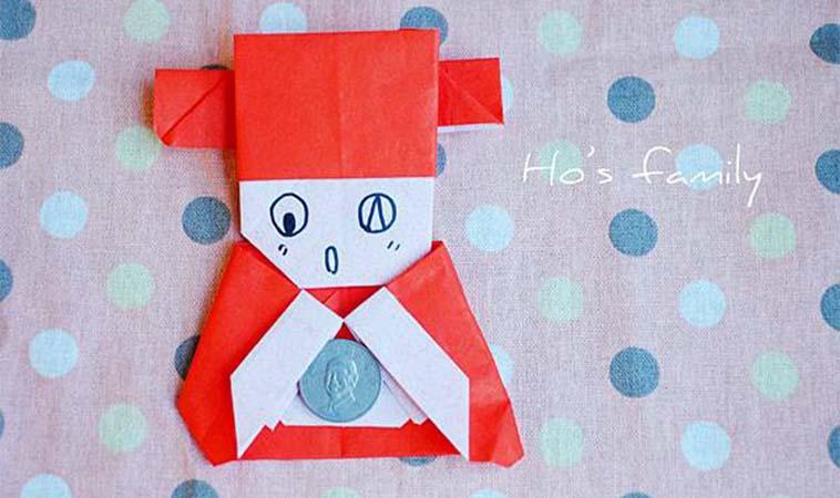 財神爺來報到,紅包摺紙手作