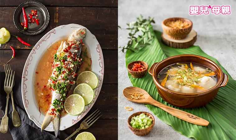 準媽媽私房菜 南洋風味餐~泰式清蒸檸檬魚、巨港魚漿羹