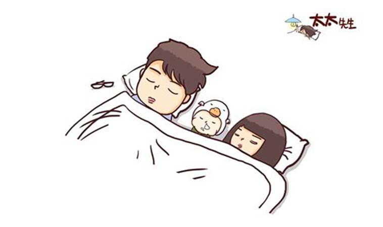 每晚跟小孩睡覺時,都要演戲一番
