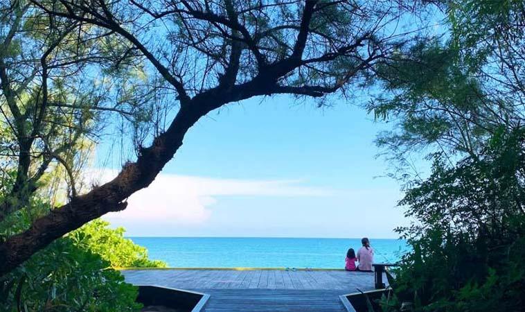 澎湖林投公園,藍天白雲的美麗濱海天地