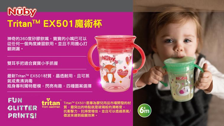 2020嬰幼兒水杯大賞!首推全新Nuby Tritan™ EX501魔術杯
