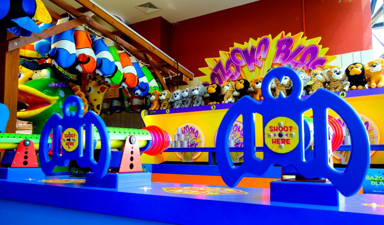 Bazooka Blast game at Magic Planet Mall of the Emirates