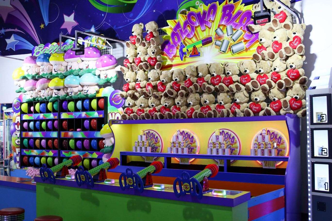 Bazooka Blast game at Magic Planet City Centre Ajman