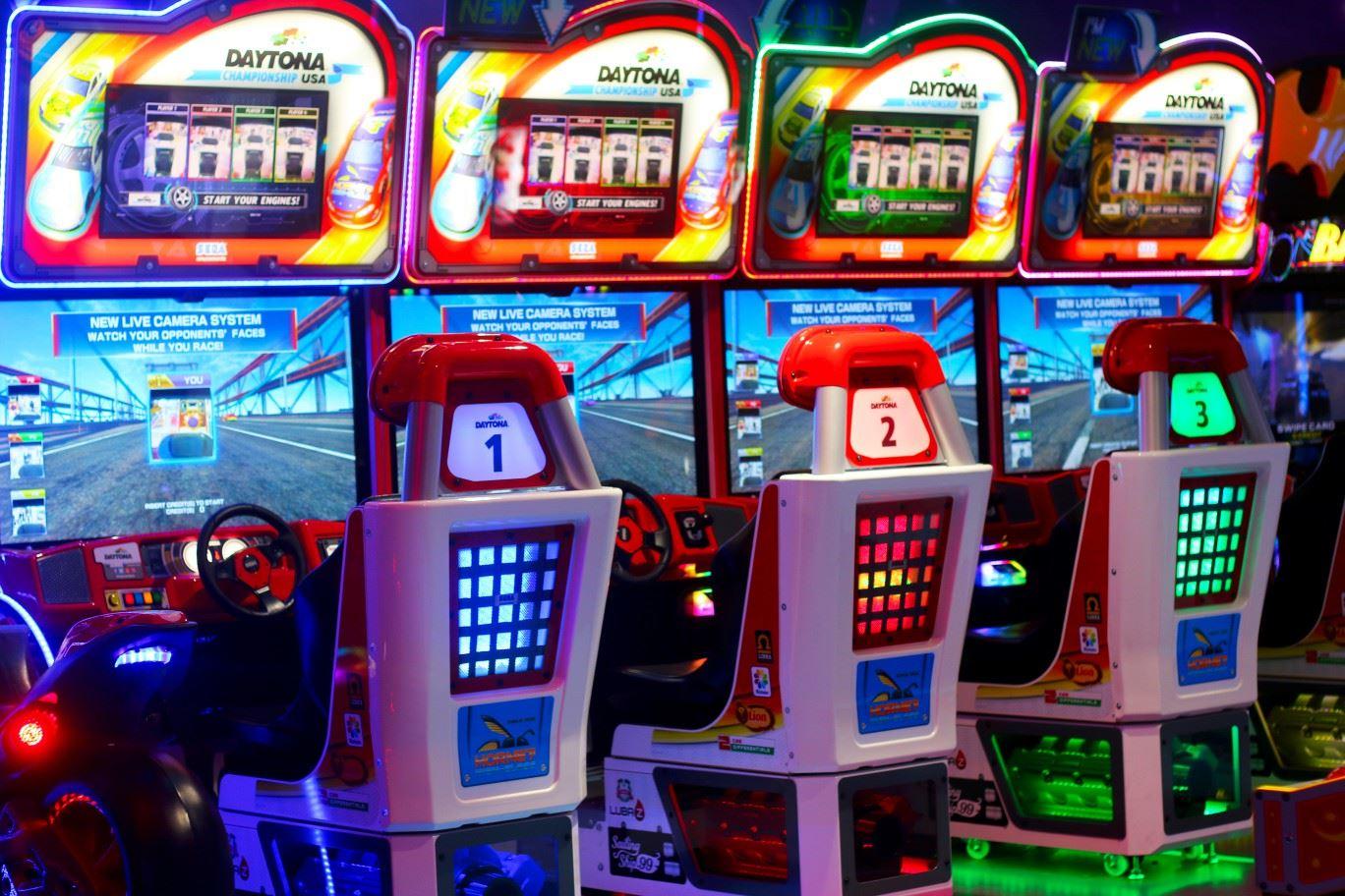 Daytona USA game at Magic Planet City Centre Mirdif North