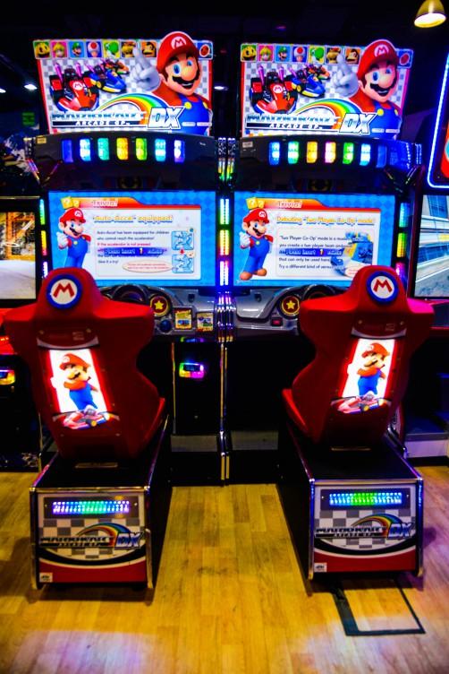 Mario Kart game at Magic Planet Al Jimi Mall