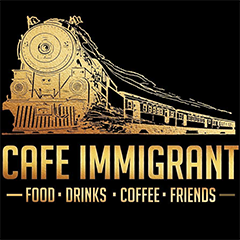 Cafe Immigrant, Connaught Place (CP), Connaught Place (CP) logo