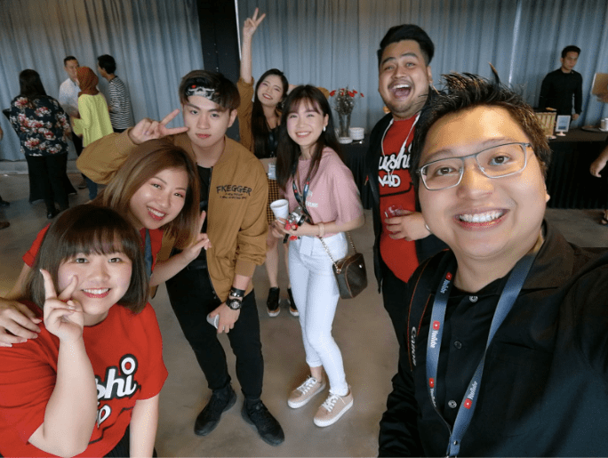 SushiVid Team at YouTube Creator Day