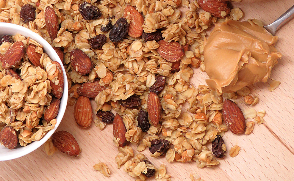 Healthy Snacks Malaysia Peanut Butter Almond Granola Snacks
