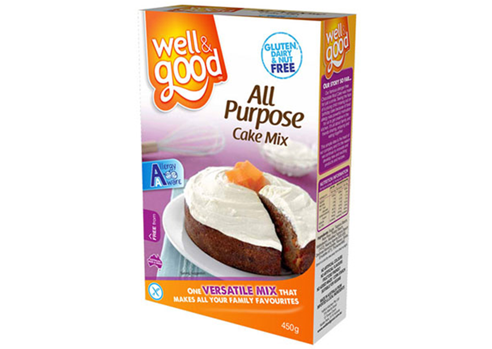 Well good gluten free all purpose cake mix signature for Atkins cuisine all purpose baking mix where to buy