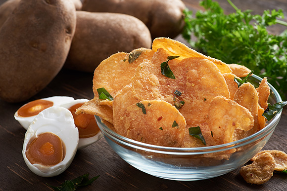 Healthy Snacks Malaysia - Potato Chips- Salted Egg