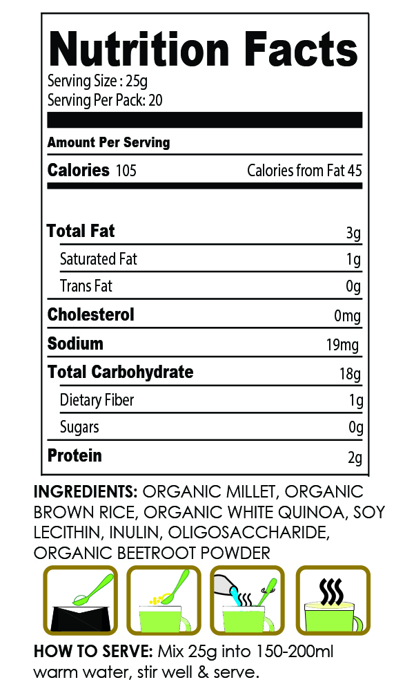 Healthy Snacks Malaysia Organic Beetroot Millet Milk