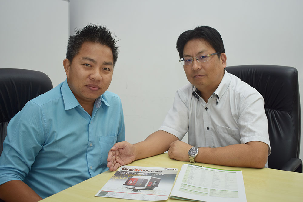 Sales Team Supporting Enshu Thailand, Long-Established Machine Tool Maker