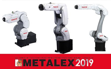 【タイ・産業用ロボット】NACHIブランドのロボットが勢揃い!メインブースでは新製品の切削工具等の展示も