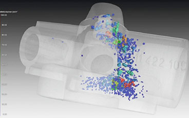Defect analysis for the inside of products with Non-Destructive Testing (X-ray CT Scanning)