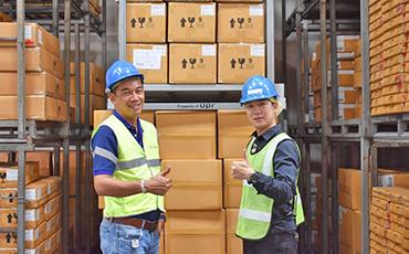 【物流倉庫の導入事例】 ネスティングラック「U-rack」のレンタル・販売サービスUPR(タイランド)x Damco Logistics(タイランド)